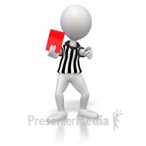 ID# 2855 - Soccer Referee Red Card  - Presentation Clipart
