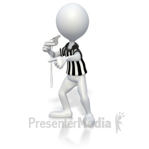 ID# 2859 - Referee Blow Whistle - Presentation Clipart