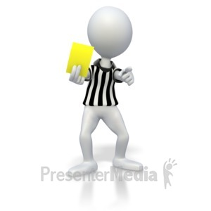ID# 2861 - Soccer Referee Yellow Card - Presentation Clipart