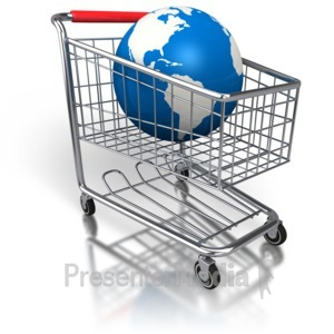 ID# 2865 - Shopping Cart Global Purchase - Presentation Clipart