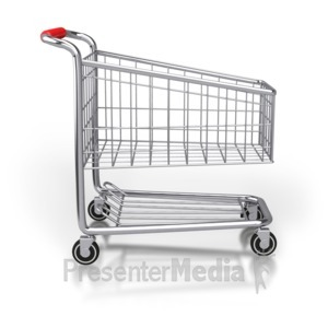 ID# 2868 - Shopping Cart Side View - Presentation Clipart