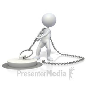 ID# 2876 - Pulling the Plug - Presentation Clipart