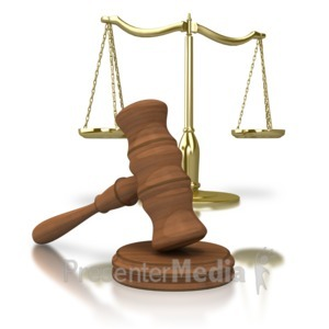 ID# 2880 - Gavel Scale Of Justice - Presentation Clipart