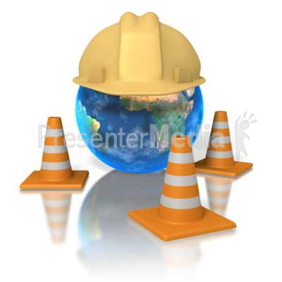 World Hardhat PowerPoint Clip Art