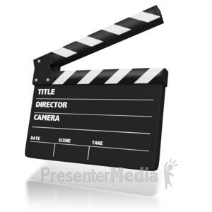 ID# 2888 - Film Clap Board - Presentation Clipart