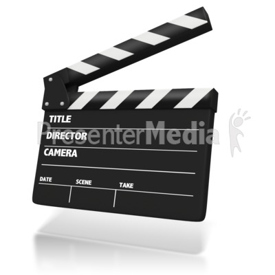 Film Clap Board PowerPoint Clip Art