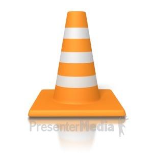 ID# 2889 - Traffic Cone - Presentation Clipart