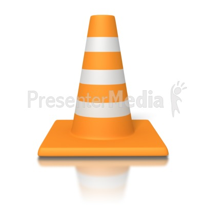 Traffic Cone PowerPoint Clip Art