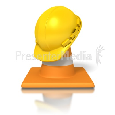Hardhat Traffic Cone PowerPoint Clip Art