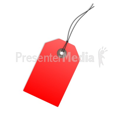 Red Price Tag Blank PowerPoint Clip Art