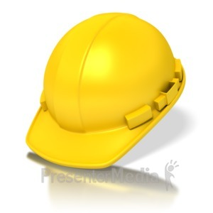 ID# 2893 - Yellow Construction Hardhat - Presentation Clipart