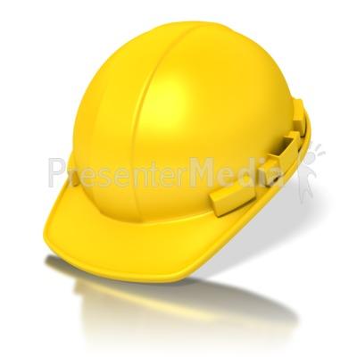 Yellow Construction Hardhat PowerPoint Clip Art