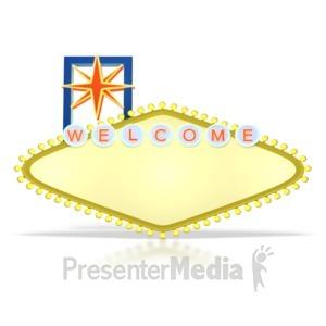 ID# 2899 - Blank Vegas Sign  - Presentation Clipart
