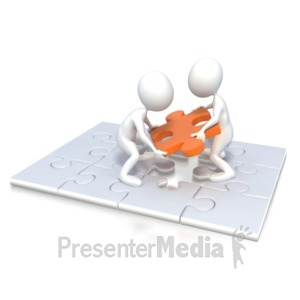 ID# 2917 - Team Puzzle Finish  - Presentation Clipart