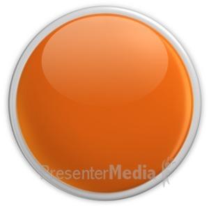 ID# 2953 - Badge Blank Button Orange - Presentation Clipart