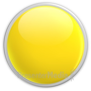ID# 2954 - Badge Blank Button Yellow - Presentation Clipart