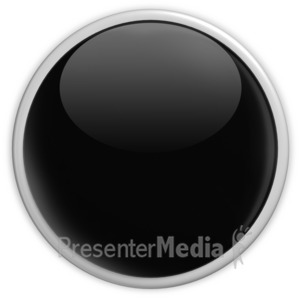 ID# 2956 - Badge Blank Button Black - Presentation Clipart