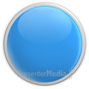 ID# 2958 - Badge Blank Button Blue - Presentation Clipart