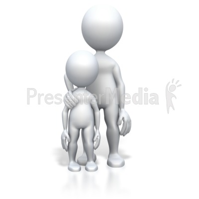 Parent Child Standing PowerPoint Clip Art