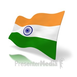 ID# 2972 - India Flag Perspective - Presentation Clipart