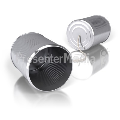 Tin Can Communication PowerPoint Clip Art
