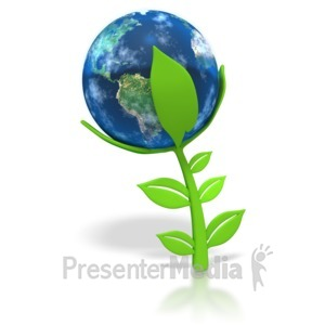 ID# 2983 - Earth Plant - Presentation Clipart