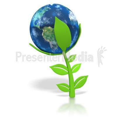 Earth Plant PowerPoint Clip Art