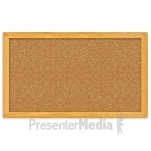 ID# 2995 - Blank Bulletin Board - Presentation Clipart