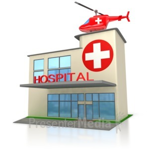 ID# 3002 - Medical Hospital Building  - Presentation Clipart