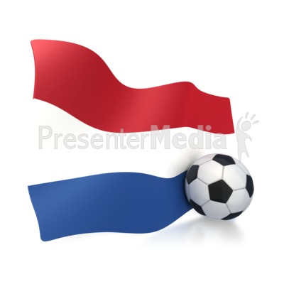 Netherlands Flag With Soccer Ball PowerPoint Clip Art