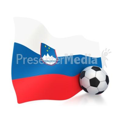 Slovenia Flag With Soccer Ball PowerPoint Clip Art