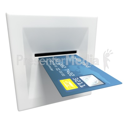 Insert Credit Card Atm Machine PowerPoint Clip Art