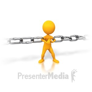 ID# 3032 - Strong Chain Link - Presentation Clipart