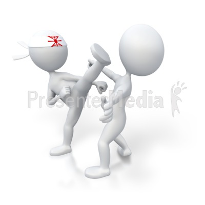 Martial arts kick opponent sports and recreation great clipart martial arts kick opponent powerpoint clip art toneelgroepblik Image collections