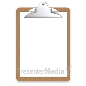 ID# 3043 - Office Clipboard Blank - Presentation Clipart