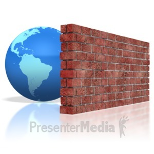 ID# 3046 - Earth Brick Wall - Presentation Clipart