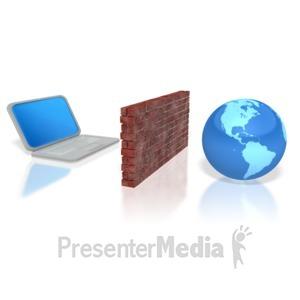 ID# 3047 - computer firewall - Presentation Clipart