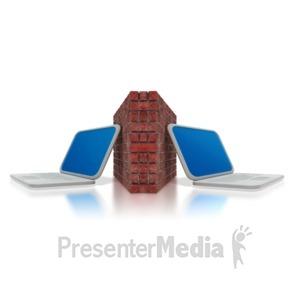 ID# 3049 - Computer Firewall  - Presentation Clipart