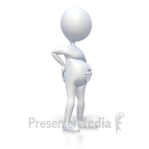 ID# 3052 - Pregnant Stick Figure  - Presentation Clipart