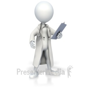 ID# 3061 - Stick Figure Doctor - Presentation Clipart