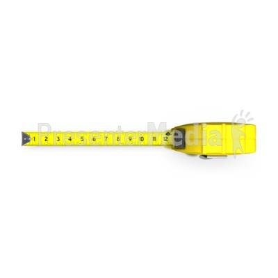 Tape Measure Top View PowerPoint Clip Art