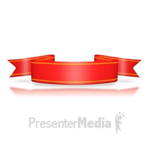 ID# 3088 - Red Flag Banner - Presentation Clipart