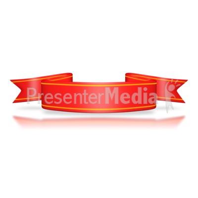 Red Flag Banner PowerPoint Clip Art