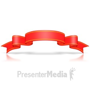ID# 3089 - Large Red Flag Banner - Presentation Clipart