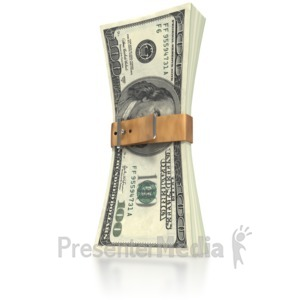 ID# 3097 - Money Squeeze  - Presentation Clipart