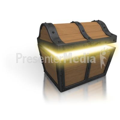 Treasure Chest Open Glow PowerPoint Clip Art