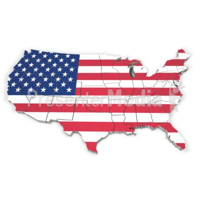 United States Map With Flag - Signs and Symbols - Great Clipart ...