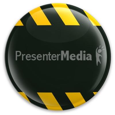 Black Button Caution Construction PowerPoint Clip Art