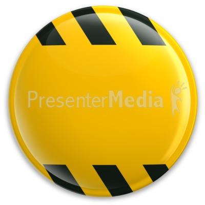 Yellow Button Caution Construction PowerPoint Clip Art
