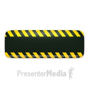 ID# 3131 - Black Bar Caution Construction - Presentation Clipart